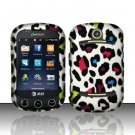 Hard Rubber Feel Design Case for Pantech Pursuit II P6010 - Colorful Leopard