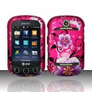 Hard Rubber Feel Design Case for Pantech Pursuit II P6010 - Hibiscus Flowers