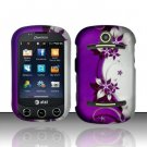 Hard Rubber Feel Design Case for Pantech Pursuit II P6010 - Purple Vines