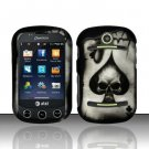 Hard Rubber Feel Design Case for Pantech Pursuit II P6010 - Spade Skull