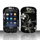 Hard Rubber Feel Design Case for Pantech Pursuit II P6010 - Midnight Garden