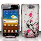 Hard Rubber Feel Design Case for Samsung Exhibit II 4G - Pink Garden