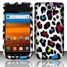 Hard Rubber Feel Design Case for Samsung Exhibit II 4G - Colorful Leopard