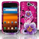 Hard Rubber Feel Design Case for Samsung Exhibit II 4G - Hibiscus Flowers