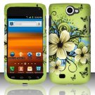 Hard Rubber Feel Design Case for Samsung Exhibit II 4G - Hawaiian Flowers
