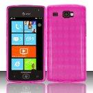 TPU Crystal Gel Case for Samsung Focus Flash - Pink