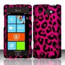 Hard Rubber Feel Design Case for Samsung Focus Flash - Pink Leopard