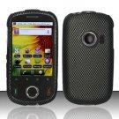 Hard Rubber Feel Design Case for Huawei M835 (MetroPCS) - Carbon Fiber