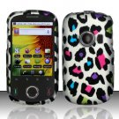 Hard Rubber Feel Design Case for Huawei M835 (MetroPCS) - Colorful Leopard