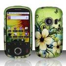 Hard Rubber Feel Design Case for Huawei M835 (MetroPCS) - Hawaiian Flowers
