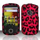 Hard Rubber Feel Design Case for Huawei M835 (MetroPCS) - Pink Leopard