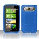 TPU Crystal Gel Case for HTC HD7/HD7S - Blue
