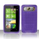 TPU Crystal Gel Case for HTC HD7/HD7S - Purple