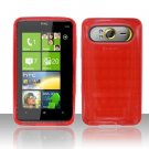 TPU Crystal Gel Case for HTC HD7/HD7S - Red
