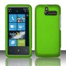 Hard Rubber Feel Plastic Case for HTC Arrive (Sprint) - Neon Green