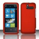 Hard Rubber Feel Plastic Case for HTC Arrive (Sprint) - Orange
