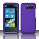 Hard Rubber Feel Plastic Case for HTC Arrive (Sprint) - Purple
