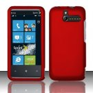 Hard Rubber Feel Plastic Case for HTC Arrive (Sprint) - Red