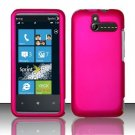 Hard Rubber Feel Plastic Case for HTC Arrive (Sprint) - Pink