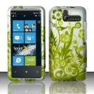 Hard Rubber Feel Design Case for HTC Arrive (Sprint) - Green Vines