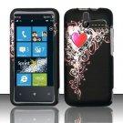 Hard Rubber Feel Design Case for HTC Arrive (Sprint) - Royal Heart
