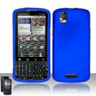 Hard Rubber Feel Plastic Case for Motorola Droid Pro XT610 (Verizon) - Blue