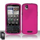 Hard Rubber Feel Plastic Case for Motorola Droid Pro XT610 (Verizon) - Pink