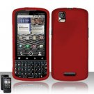 Hard Rubber Feel Plastic Case for Motorola Droid Pro XT610 (Verizon) - Red