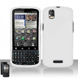 Hard Rubber Feel Plastic Case for Motorola Droid Pro XT610 (Verizon) - White