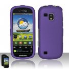 Hard Rubber Feel Plastic Case for Samsung Continuum - Purple