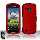 Hard Rubber Feel Plastic Case for Samsung Continuum - Red