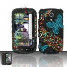 Hard Rhinestone Design Case for Samsung Epic 4G - Blue Butterfly