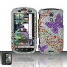 Hard Rhinestone Design Case for Samsung Epic 4G - Purple Butterfly