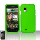 Hard Rubber Feel Plastic Case for Samsung Fascinate - Neon Green