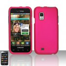 Hard Rubber Feel Plastic Case for Samsung Fascinate - Pink