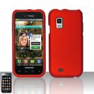 Hard Rubber Feel Plastic Case for Samsung Fascinate - Red