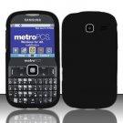 Hard Rubber Feel Plastic Case for Samsung Freeform 3/Comment - Black