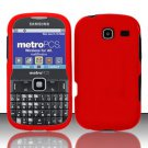 Hard Rubber Feel Plastic Case for Samsung Freeform 3/Comment - Red