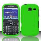 Hard Rubber Feel Plastic Case for Samsung Freeform 3/Comment - Neon Green
