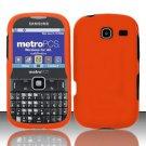 Hard Rubber Feel Plastic Case for Samsung Freeform 3/Comment - Orange