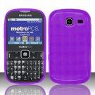 TPU Crystal Gel Case for Samsung Freeform 3/Comment - Purple