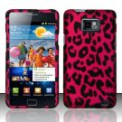 Hard Rubber Feel Design Case for Samsung Galaxy S II i777/i9100 (AT&T) - Pink Leopard