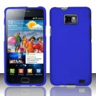 Hard Rubber Feel Plastic Case for Samsung Galaxy S II i777/i9100 (AT&T) - Blue