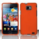 Hard Rubber Feel Plastic Case for Samsung Galaxy S II i777/i9100 (AT&T) - Orange