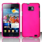 Hard Rubber Feel Plastic Case for Samsung Galaxy S II i777/i9100 (AT&T) - Pink