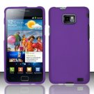 Hard Rubber Feel Plastic Case for Samsung Galaxy S II i777/i9100 (AT&T) - Purple