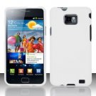 Hard Rubber Feel Plastic Case for Samsung Galaxy S II i777/i9100 (AT&T) - White