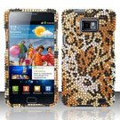 Hard Rhinestone Design Case for Samsung Galaxy S II i777/i9100 (AT&T) - Cheetah