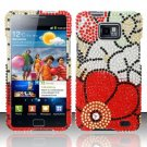 Hard Rhinestone Design Case for Samsung Galaxy S II i777/i9100 (AT&T) - Fall Flowers