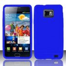 Soft Premium Silicone Case for Samsung Galaxy S II i777/i9100 (AT&T) - Blue
